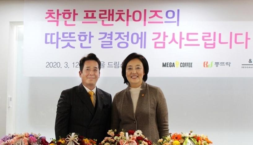 """메가커피 """"가맹점과 상생 노력""""…40개 품목 공급가 인하"""